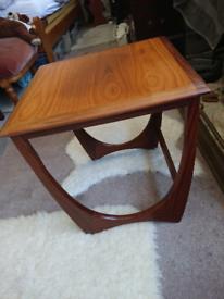 Gplan mid century retro solid wood coffee side table