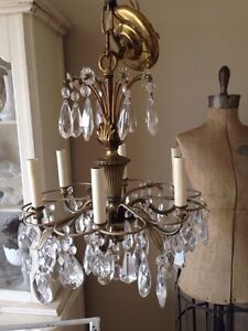 Beautiful high quality antique crystal chandelier