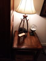 LARGE RUSTIC END TABLE - MINT CONDITION