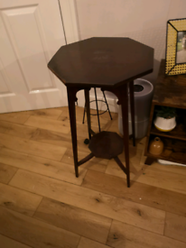 Vintage Retro Side Table Plant Stand Hall Table 2 Tier