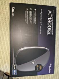 Belkin wifi ac1800 4 gigabit ethernet port broadband modem router