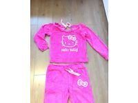 New Wonen Tracksuit Pink Hello Kitty Size 8 uk