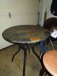 pub table indoor/outdoor and stools Sarnia Sarnia Area image 1