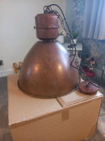 Large rusty light pendant