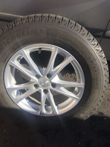 245-65-17 Michelin winter tires and alloy wheels