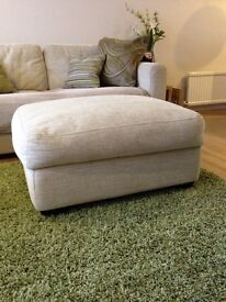 Brand new Christopher Pratts pouffe/footstool with storage.