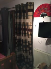 Fully lined long curtains