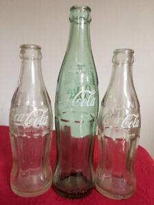Coca-Cola     3 bouteilles VINTAGE