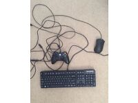 Razer Deathadder mouse, Steel Series 6Gv2 keyboard +Xbox 360 controller for PC