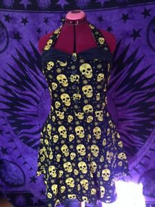 Pinup Style Skull Candy Dress-XL