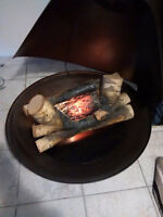 Conical Electric fireplace and heater