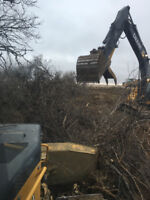 Land clearing, Brush clearing, ditching and excavating