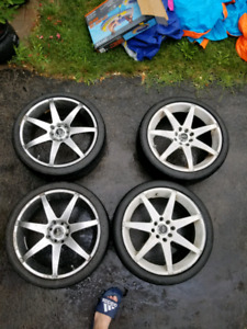 17 inch Fast Rims and Tires