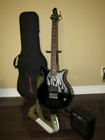 First Act Electric Guitar w/ case, stand and amp