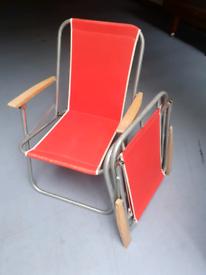 Vintage retro deck chairs