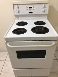 """barely used Frigidaire white 24"""" coil stove range oven"""