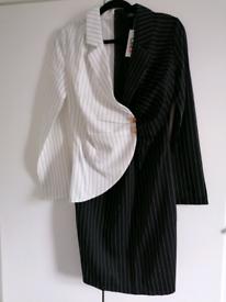 Stylish Black and White Dress Short