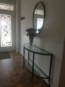 Console Hall Table and Mirror