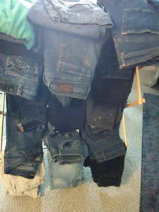 assorted top Brand name jeans all sizes, skinnys, boot cut, etc