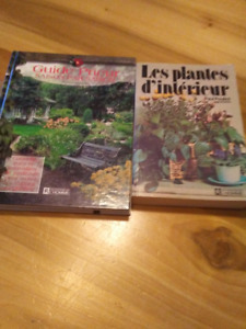 2 livres de plantes et d'aménagement paysager 5$ Chaque