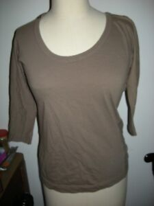 Urgent New Dolce & Gabbana Tee Taupe sz 44 Made in Italy.