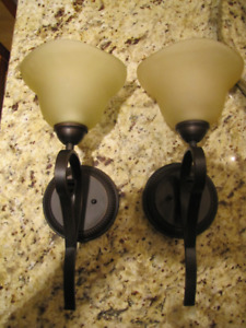 MATCHING PAIR OF WALL SCONCES/LIGHTS (HARDWIRED)price is for 2
