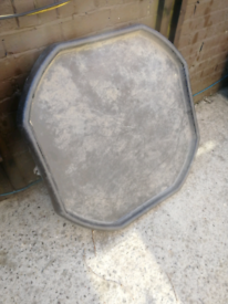 Large Heavy duty Cement Mixing Tray Octagonal ideal for DIY