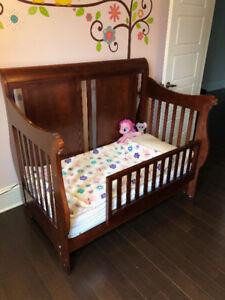 Convertible Crib with Mattress and Conversion Kit