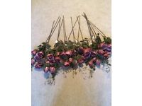 Artificial Rose's Purple/Pink ideal for wedding / decorations etc