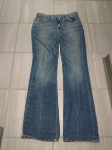 seven for all mankind flare jeans size 28 waist made in the usa