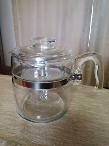 Vintage Pyrex Percolator Coffee Pot