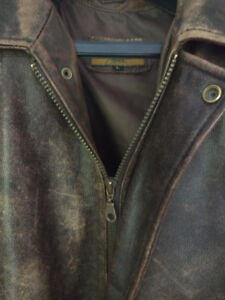 Brown Leather Avaitor Jacket (Danier)