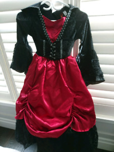 Halloween Gothic Witch Costume with Hat