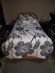 Single Box Bed with Mattress - Excellent Condition