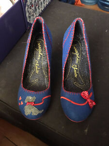 The Scottie Shoe in Blue by Irregular Choice - never worn