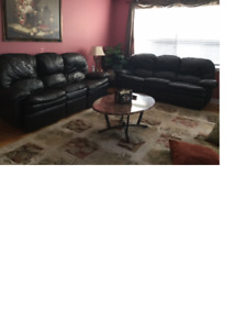 Reclining Sofa and table set