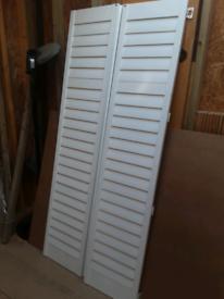 2 White shutter/doors