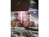 Joshua v Klitschko boxing tickets x2 for pick up in Hull