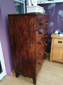 Late Georgian Earley victorian 2 over 4 drawer tall chest of drawers