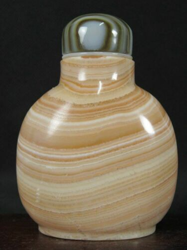 Big Chinese Natural Banded Jasper Snuff Bottle