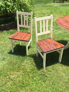 Refinished Table and Chairs Set