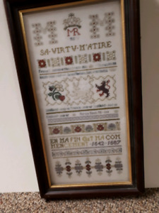 History of Scotish Queen Cross Stitch.