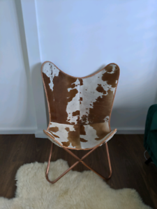 Cowhide butterfly occasional chair or armchair