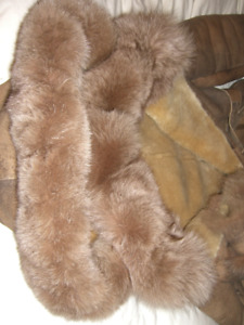 EXCEPTIONAL EXSTRA  MODERN COAT REAL MOUTON AND FUR