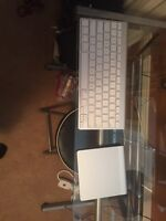 Apple wireless trackpad and keyboard 150$