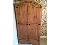 Solid Pine Double Wardrobe for sale