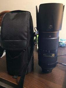 Nikon 80-400mm 4.5-5.6 G ED telephoto lens