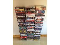 Collection of 500 vhs video tapes