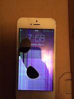Cracked iPhone 5