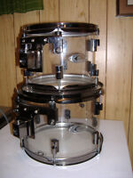 DrumCraft Series 8 Acrylic toms & Pearl Stand
